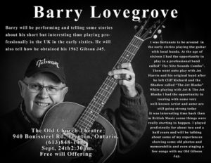 Barry Lovegrove @ Old Church Theatre