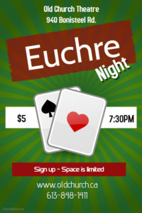 Euchre Night @ Old Church Theatre