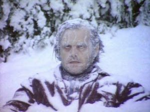 Photo of Jack Nicholson frozen in ice (from The Shining)