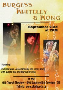 Burgess, Whiteley and Wong @ Old Church Theatre
