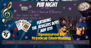 POSTPONED - Pub Night with The Rodgers Boys @ Old Church Theatre