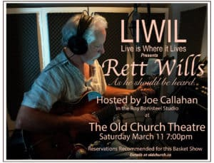 Rett Wills on Live is Where it Lives with host Joe Callahan @ Old Church Theatre