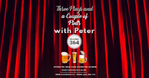 Three Plays and a Couple of Pints with Peter @ Old Church Theatre